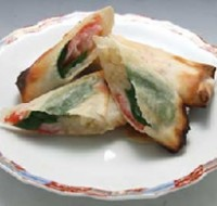カニカマと野菜の焼き春巻き