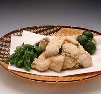 白身魚のせんべい粉揚げ
