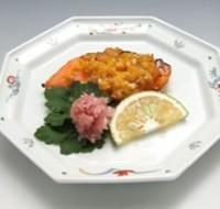 鮭の金山寺味噌焼き