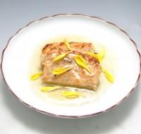 豆腐入り和風ミートローフ 菊花あんかけ