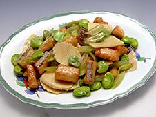 春野菜と鰆の炒め物