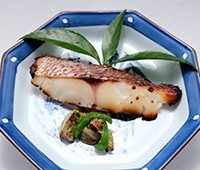 鯛の白妙焼き~季節のお野菜の炒め物を添えて