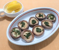 生椎茸のハーブバター焼き
