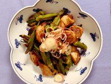 里芋とオクラの田楽風味噌炒め