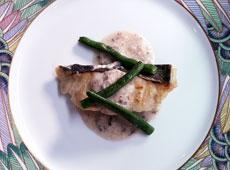 魚のソテー バーニャカウダソース